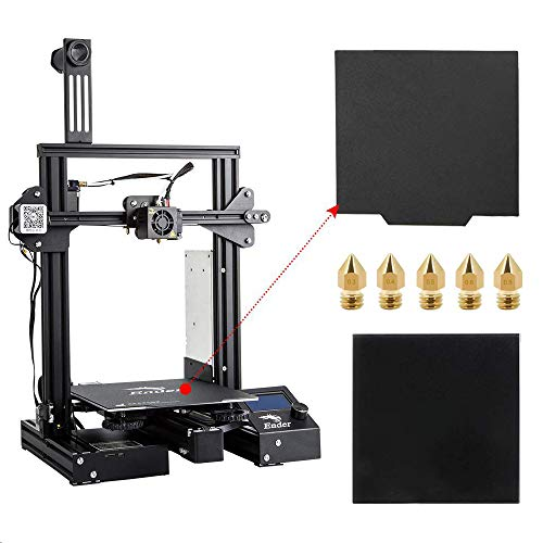 Official Creality Ender 3 Pro 3D Printer with Glass Plate, Upgrade Cmagnet Build Surface Plate and UL Certified Meanwell Power Supply Build Volume 220x220x250mm