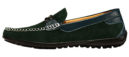 WUXING Men's Driving Lazy Fashion Peas Shoes (7 D(M)US,green)