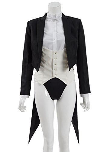 Yangxiao Womens Sexy Black Magician Suit Tuxedo Cosplay Costume (Woman-L, (Female Magician Costume)