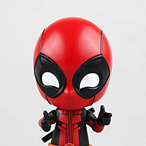 Anime Deadpool Figure Katana Sword Fighting Gesturing Bobble Head PVC Action Figure Model Toy New Year Gift (With No Sword)
