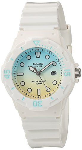 Casio Women's 'Dive Series' Quartz Resin Casual Watch, Color:White (Model: LRW-200H-2E2VCR)
