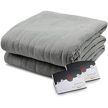 Biddeford 1004-9052106-902 Comfort Knit Fleece Electric Heated Blanket King Grey