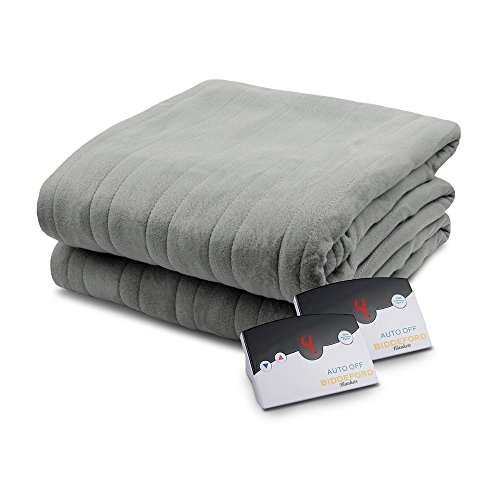 Pure Warmth Comfort Knit Heated Electric Blanket Queen Grey