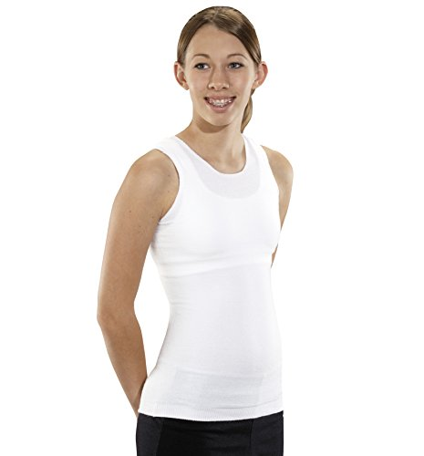 KNIT-RITE Torso Interface Crew Neck Tank - Coolmax (White, Small Regular)
