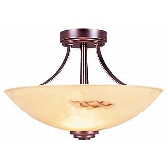 Portfolio Semi Flushmount Bronze Ceiling Light Lighting