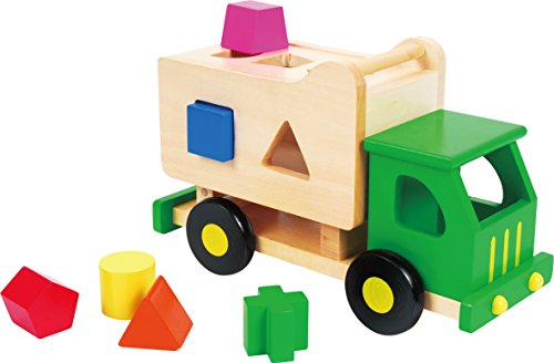 Discoveroo Wooden Toy Sort n Tip Garbage Dump Truck Playset (Wood Truck Garbage)