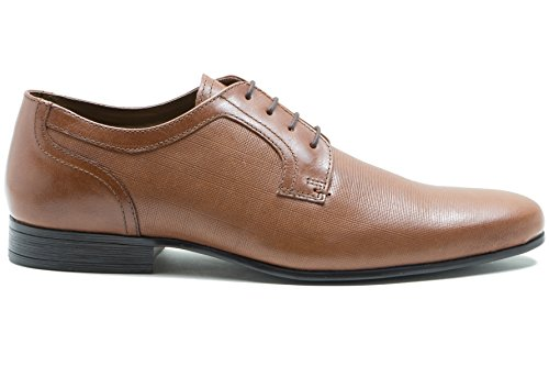Red Tape Hombre Harston Zapato de Cuero de Gibson de Color Liso con 4 Ojales Classic Tan Tan