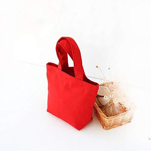Donna Red Di Mjfo Borse Tote Unita Pochette Da Tela Borsa Rosso Con Tinta Mano Pranzo A Borsette 4qPPwa5
