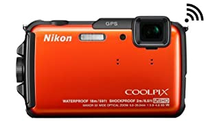 Nikon COOLPIX AW110 16 MP Waterproof Digital Camera with Built-In Wi-Fi
