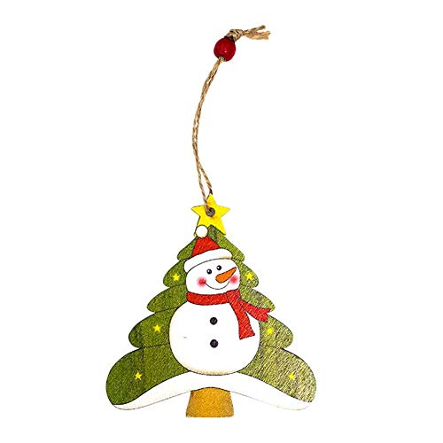 Christmas Tree Ornament Gift Post Card Wooden Painted Hanging Card Ornament Christmas Decoration Pendant Hand Made Personalized by iShine for $<!--$2.50-->