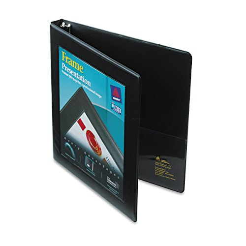 Free Slant Gap Ring (Avery Framed View Binder with 0.5 inch Gap Free Slant Ring, Black (68050))