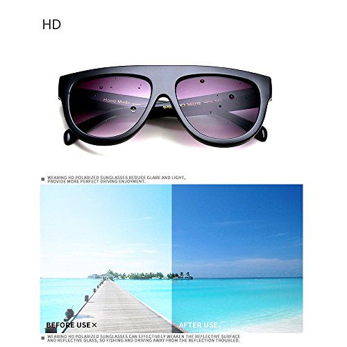 Outdoor 7 Trendy Vintage F Oversized lentes UV400 Mujer para Flat sol de Top Retro Gafas Feicuan gxqzwUw