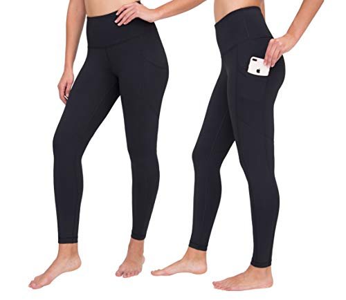 806eb3c931796a ... 90 Degree By Reflex High Waist Interlink Yoga Pants - Black Ankle  Length 2 Pack -