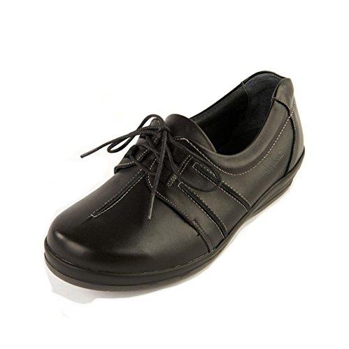 femme Noir pour Chaussures lacets de ville à Sandpiper qHY41w4