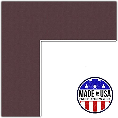 10x12 Bordeaux / Mahogany Custom Mat for Picture Frame with 6x8 opening size (Mat Only, Frame NOT Included)