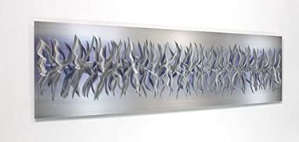 Unique Silver U0026 Purple Modern Metallic Wall Accent With Abstract Etchings    Home Decor, Contemporary