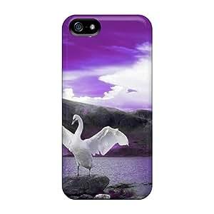 TinaMacKenzie Cso35099YEeB Cases Covers Iphone 5/5s Protective Cases Swan Song