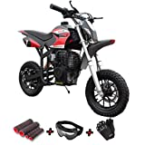 X-Pro 40cc Kids Dirt Bike Pit Bike Youth Dirt Bikes Gas Power Bike Off Road Ride-on with Gloves, Goggle and Handgrip!