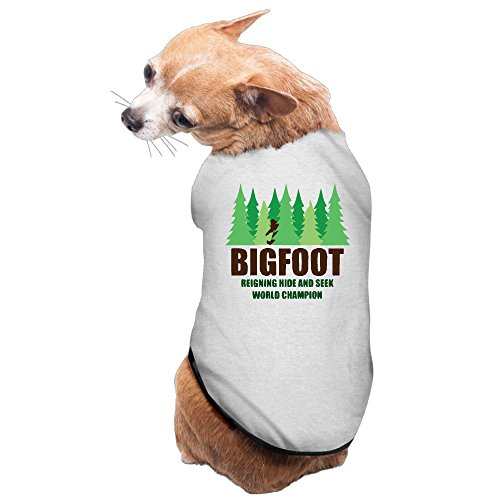 (Bigfoot Sasquatch World Champion Dog Jackets Puppy Clothes Apparel One-piece)
