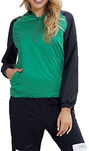レディーススパンコールストライプトップブラウスのスウェットシャツプルオーバーフード付きのTシャツとTシャツ