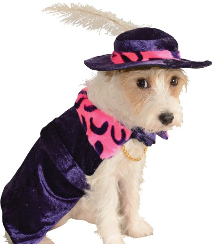 Rubie's Costume Co Mac Daddy Pet Costume, Medium (Hat Pimp Velvet)