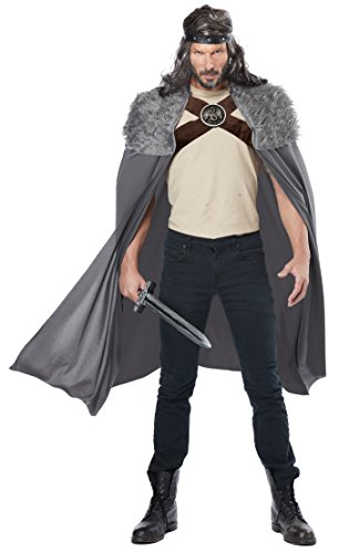 [California Costumes Men's Dragon Master Cape, Gray, One Size] (Medieval Shirt Adult Costumes)