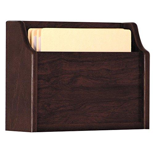 UPC 878963000203, Wooden Mallet Deep Pocket File Holder, Letter Size, Light Oak