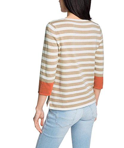 edc by Esprit 046cc1i002 - Gestreift - suéter Mujer Beige (BEIGE 270)