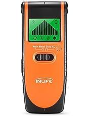 InLife Detector de Madera Perno de Metal Cables de AC Stud Finder Detector Digital con 4 Modos para Diferentes Paredes Pantalla LCD