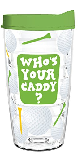 WHO'S YOUR CADDY 16oz Tritan Insulated Tumbler With Lid and Straw