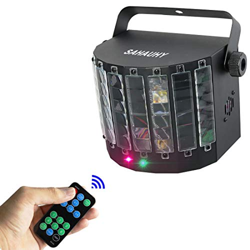 (DJ Party Lights,SAHAUHY 2 in 1 Professional DMX 512 LED Strobe Lights Stage Lights with Remote Control (LED+ Effects)