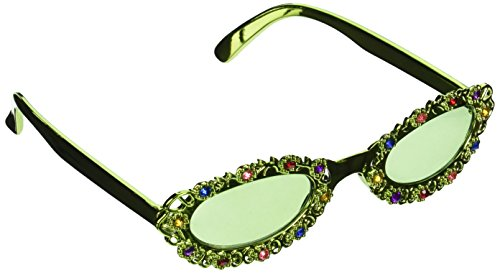 Jeweled Flower Garden Fanci-Frames Party Accessory (1 count) - Accessories Eyeware