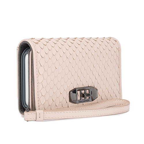 Rebecca Minkoff Love Lock Wristlet for iPhone X - Nude Snakeskin - RMIPH-050-SNAKE by Rebecca Minkoff (Image #4)