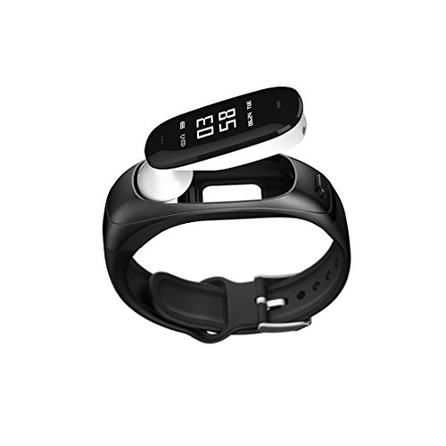 SOULFIT Sonic V08 activity tracker with detachable bluetooth earpiece, Heart Rate, Blood Pressure Monitoring, Sleep Analysis, Pedometer, Long Battery Life and Sedentary Reminders for Men and Women
