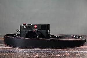 Canon Olympus Panasonic Fuji YLLS Handmade Leather Camera Neck Belt for Women /& Men for DSLR Cameras MR Vintage Camera Strap with Lens Pocket Sony Gray Nikon