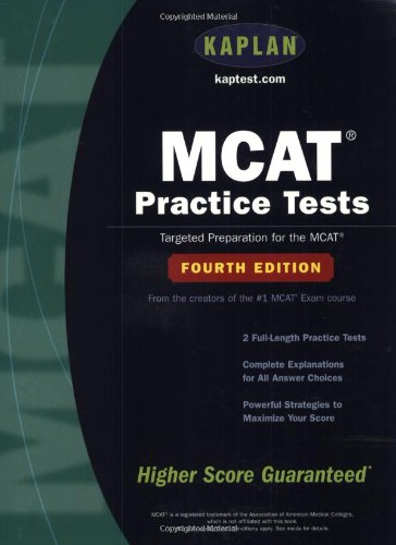 MCAT Practice Tests: Fourth Edition (Kaplan Mcat Practice Tests)