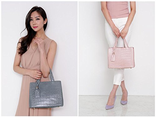 Bellina Wani Tote Shoulder Bag BB1218 (Pink) by Pristine&BB (Image #8)