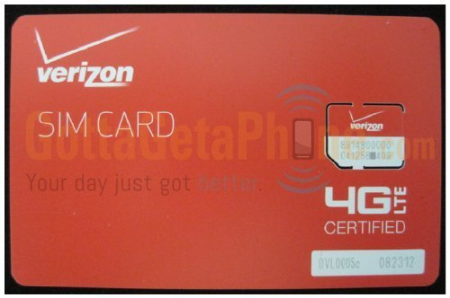 Verizon Micro SIM Card (3FF) for Samsung Galaxy Note 4, S5, S4, S3 with  TrendON SIM Ejection Tool