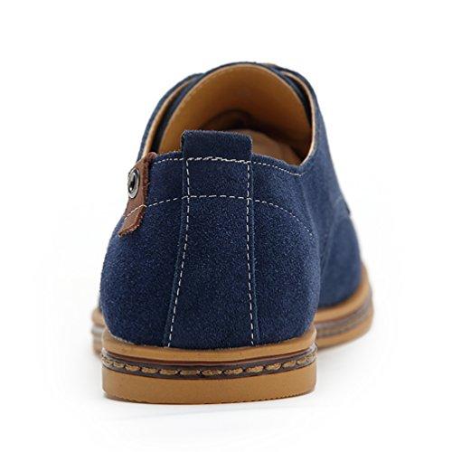 Cordones Zapatillas Cielo de Oxfords YiJee Hombre los Talla Zapatos Extra Azul Ocio XwxWBaFpqR