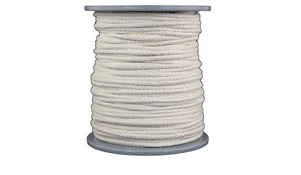 Gepotex – Cuerda/Cuerda/Flechtwaren (/de algodón – Rope-Shop – Longitud 100 Metros – Diámetro Aprox. 4 mm – Muy Suave Calidad de Filo santoku 1077200 mwolle: Amazon.es: Deportes y aire libre