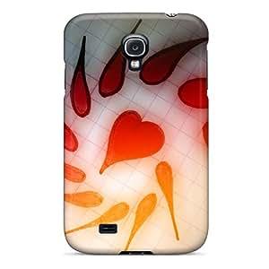 New Love Heart Tpu Case Cover, Anti-scratch AsJ7812dejY Phone Case For Galaxy S4