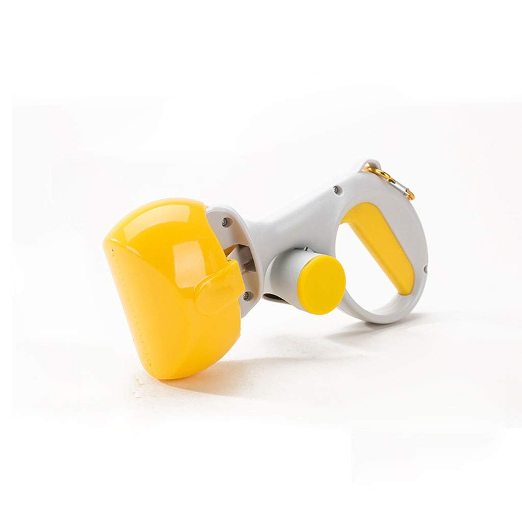 Yellow MSNDD Pet Dog and Cat Waste Easy Doggy Poo Pick Up Tool Pooper Scooper Pet Cleaning Tool Dog Toilet (color   Yellow)