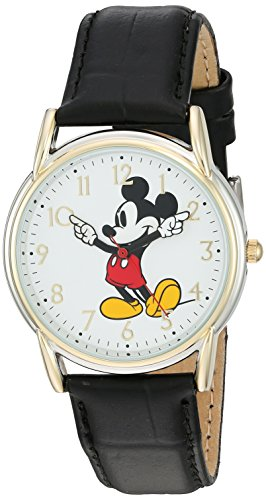 Disney Women's 'Mickey Mouse' Quartz Metal Watch, Color:Black (Model: W002755)