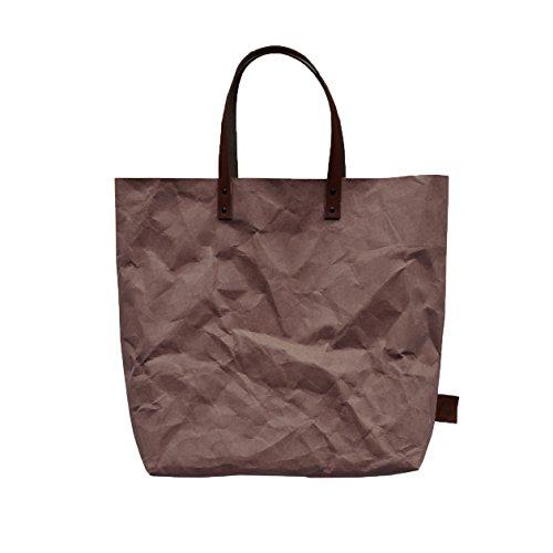 Wind carta 3 in marrone Tote manico Bag lavabile © SZ5vqw