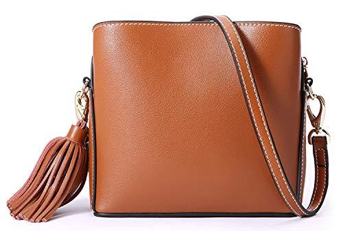 Saierlong Sacs à bandoulière en cuir brun