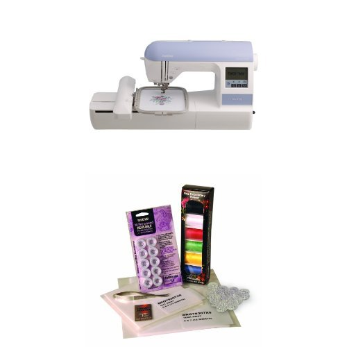 Brother PE770 Emrbroidery Machine and Embroidery Starter Kit Bundle (Brother Sewing Machine Screen)