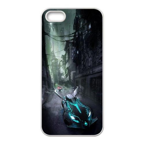 Batman Batmobile coque iPhone 5 5S Housse Blanc téléphone portable couverture de cas coque EBDOBCKCO09367