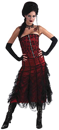 Coffin Costumes Gothic (Forum Novelties Women's Gothic Couture Coffin Skirt, Red/Black, One)