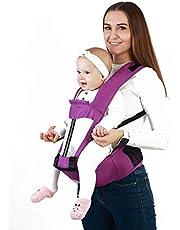 OOYJ Canguru de bebê ergonômico, cadeirinha para bebês com apoio lombar para assento de quadril, ergonômico 360 em todas as posições, adaptável a recém-nascidos e crianças pequenas