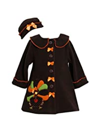 Bonnie Jean Baby Baby Girls' Turkey Coat And Hat Set